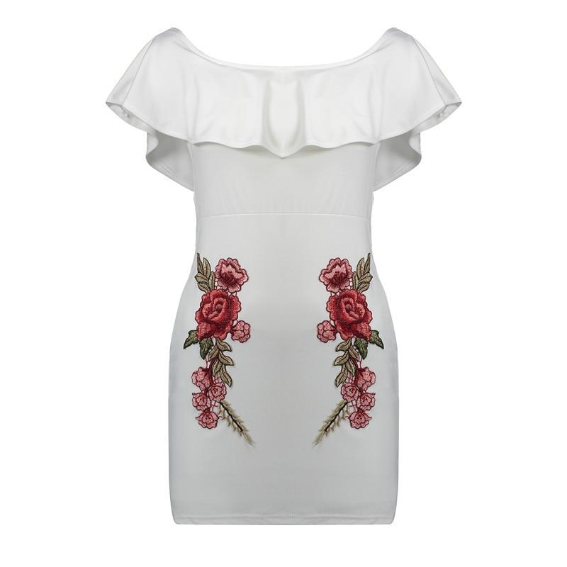 HTB1.RkwRpXXXXXVaVXXq6xXFXXXN - FREE SHIPPING Summer Dress Women Black White Sexy Off Shoulder Embroidery JKP313