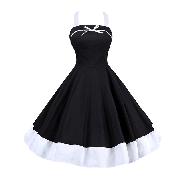 57fb7c02e1515 Vestidos Summer Woman Dress Polka Dot Retro Casual Robe Rockabilly Party  Dress 50s 60s Pinup Swing Vintage Dresses