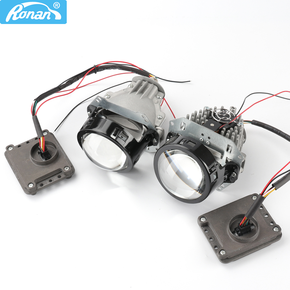 Ronan 3.0 BI LED Lenses Headlight Projector Zm20-7070 Led Chips 5500k Hi Low Super Brightness Retrofit Style DIY