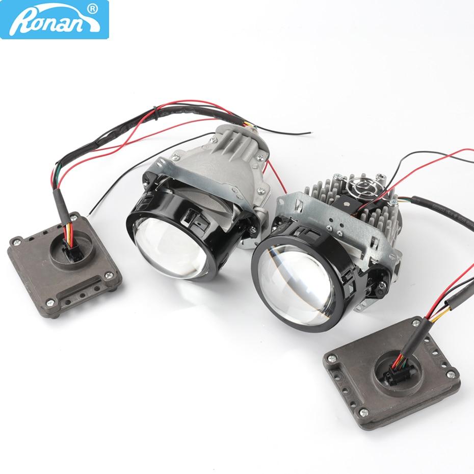 Ronan 3.0 inch Bi-LED projector lens hella hole 5500k led chips with driver 35w 12v car headlight for car diy retrofit