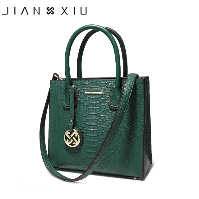 Jianxiu Brand Luxury Handbags Women Bag Designer Handbag Genuine Leather Bags Fasion Newest Shoulder Small Tote Two Colors