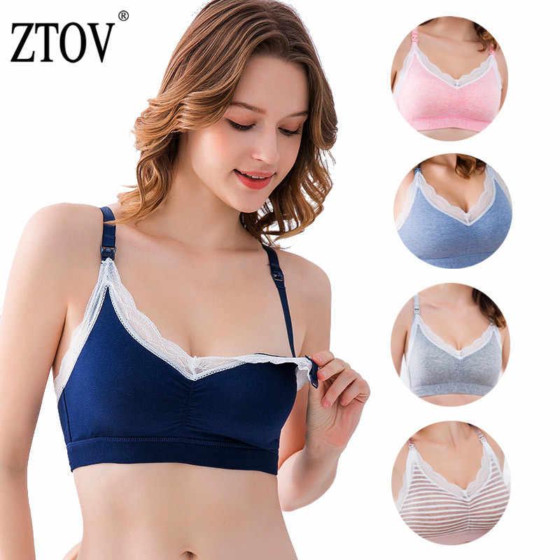 269bbcb1edc ZTOV Cotton Feeding Bra For Nursing Moms Pregnancy Breastfeeding Underwear Bra  Maternity Nursing Bra Clothes for