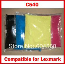 High quality color toner powder compatible for Lexmark c540/540 Free Shipping