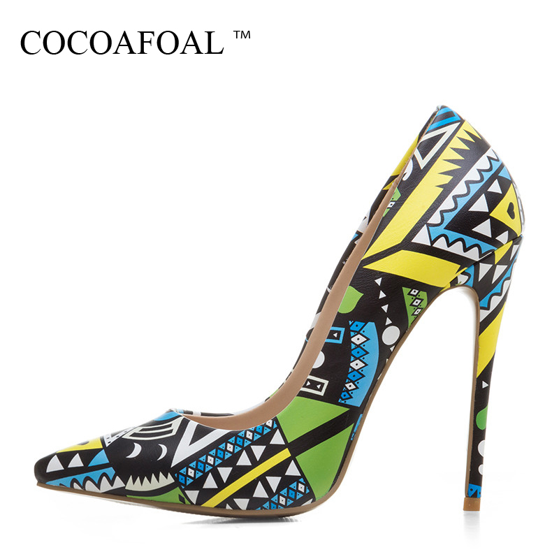 COCOAFOAL Woman Sexy Pumps Plus Size 33 - 43 Sexy Ultra High Heels Shoes Fashion Pointed Toe Party Stiletto 12 CM Wedding Pumps enmayer cross tied shoes woman summer pumps plus size 35 46 sexy party wedding shoes high heels peep toe womens pumps shoe