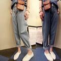 Casual Denim Pants Women 2016 Fashion Loose Harem Pants Female Blue full Length Cargo Pant for Women Autumn Baggy Trouser z10