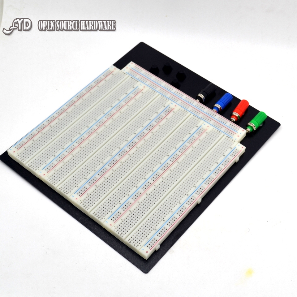 3220 Hole Point Solderless Breadboard Welding Free Circuit Test Board ZY 208 MB 102 Breadboard