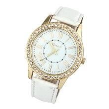 Новинка, женские кварцевые часы с римскими цифрами, циферблат, наручные часы, женские кожаные стразы, браслет, часы, Relojes Mujer