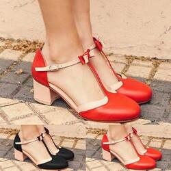 MUQGEW/женская модная обувь в римском стиле с круглым носком и бантиком-бабочкой на высоком квадратном каблуке; женская обувь; Уличная обувь;