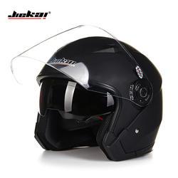Шлем moto rcycle с открытым лицом capacete para cicleta cascos para moto racing мотоцикл JIEKAI винтажные шлемы с двумя объективами
