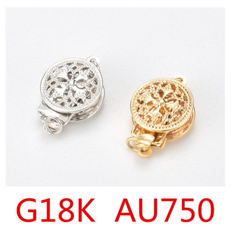 1PCs G18K Gold Clasps&Hook Flower Heart Multi Pattern Hollow Out Clasps Jewelry Findings For Jewelry Making