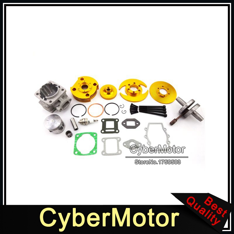 Gold 44mm Big Bore Kit Cylinder Assy For 2 Stroke 47cc 49cc Engine Chinese Minimoto Mini Dirt ATV Quad Pocket Bike 4 Wheeler