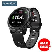 Greentiger L5 Smart Watch MenIP68 Waterproof Heart Rate Fitness Tracker Message Call Reminder Weather Multiple Sport Smartwatch