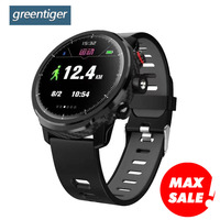 Greentiger L5 Smart Watch MenIP68 Waterproof Heart Rate Fitness Tracker Message Call Reminder Weather Multiple Sport Smartwatch