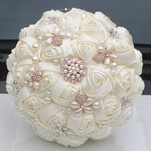 New Custom Gorgeous Crystal Ivory Wedding Bouquet Brooch Bowknot Wedding Decoration Artifical Flowers Bridal Bouquets Wedding wedding decoration inflatable lighting ivory