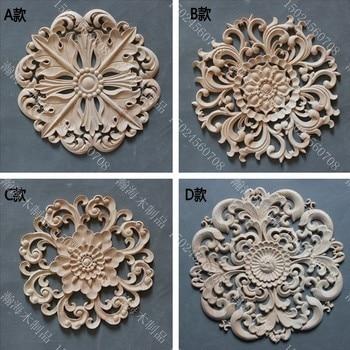 Circle door decoration applique fashion furniture cabinet door kidney wood carved