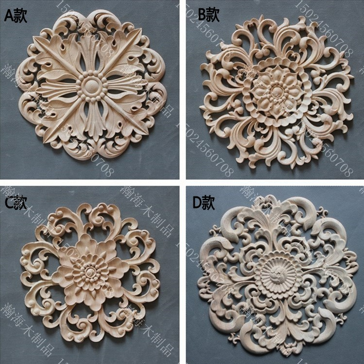 Circle door decoration applique fashion furniture cabinet door kidney wood  carved(China (Mainland)