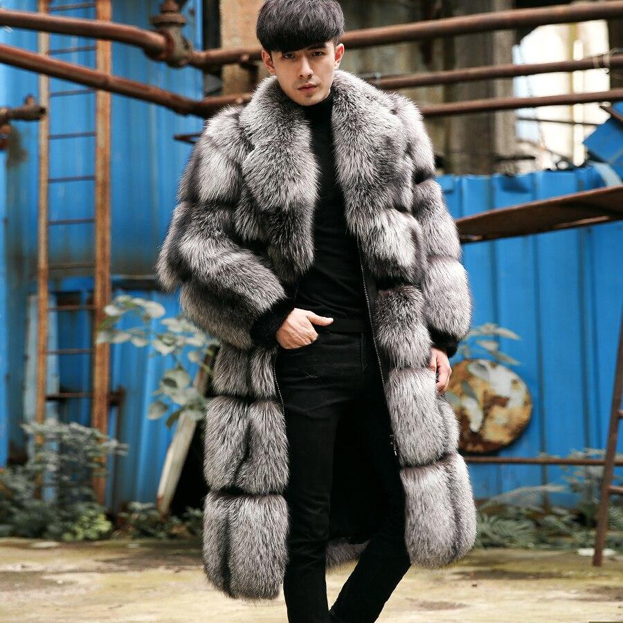 Véritable Outwear Manteau Réel Silver Nouveau Manteaux Renard Vestes Long De Fox Cr109 2018 Hiver Fourrure Hommes 9DYW2IEH
