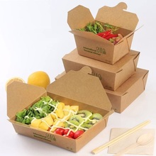 10pcs/lot fashion Kraft paper cake bread pizza box Sandwich salad Food takeout take out Bags Party restaurant Wedding