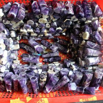 1000G  Natural Banded Chevron Dream Amethyst Quartz Crystal Wand Point Healing