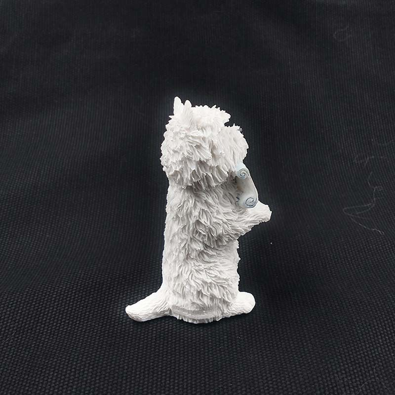 Mnotht Mini Animal Toy 1/6 West Highland Terrier Standure Posure - Խաղային արձանիկներ - Լուսանկար 4