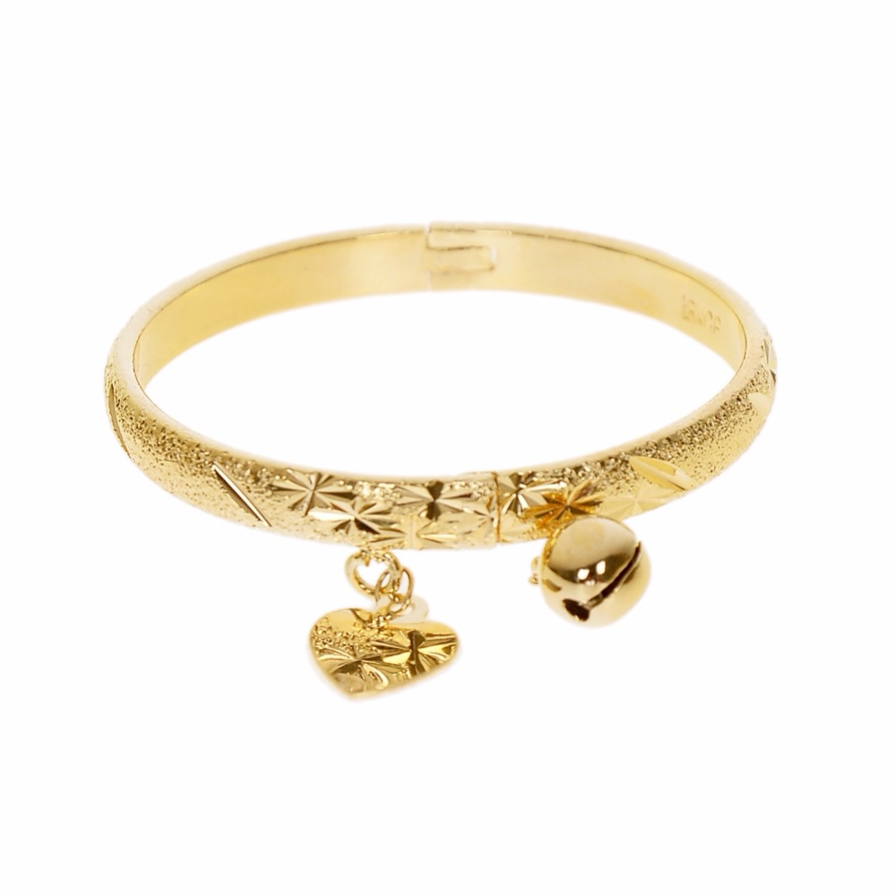 Aliexpress.com : Buy Gold Color Bell Heart Charm Bracelet ...