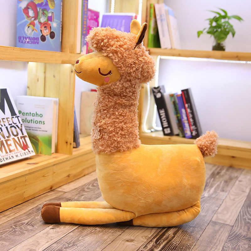 เหมือนจริง Camel Plush ของเล่นตุ๊กตา Alpaca ตุ๊กตาตุ๊กตาตุ๊กตาตุ๊กตาตุ๊กตาสัตว์หมอน Plush ของเล่นม้าสำหรับสาว Creative Cushion เด็กวันเกิดของขวัญ