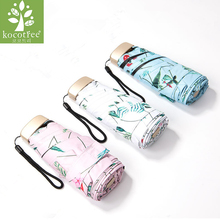 Kocotree Flower Pattern Package Mini Quality Sunny Rainy Fashion Creative Folding Brand Umbrella Women Female With Exquisite Bag