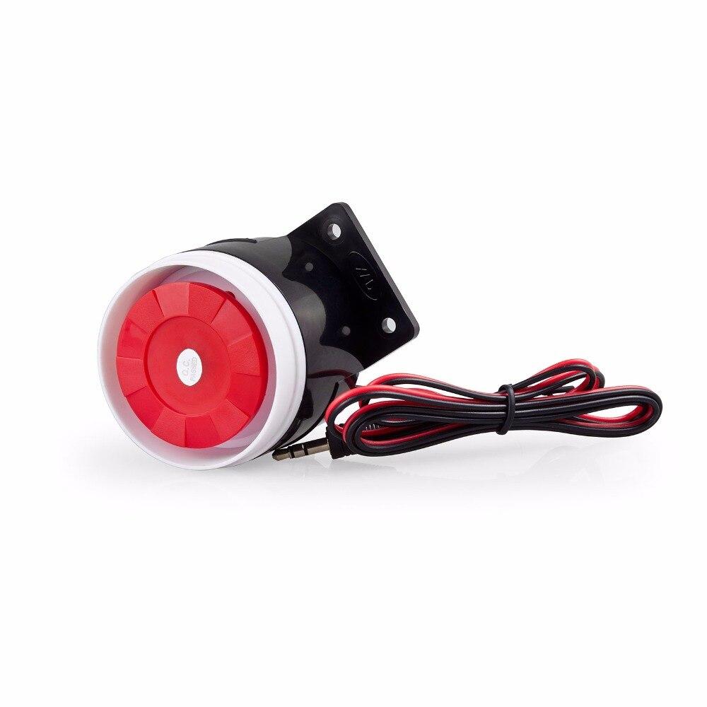 Новый мини небольшой проводной Siren для 99 зон дома безопасный Голос охранной PSTN GSM сигнализация Системы