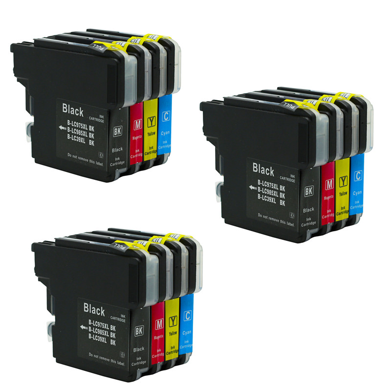 LC985 LC975 LC39 Ink Cartridge Compatible For Brother DCP385C DCP-J125 DCP-J315W MFC-J415W MFC-J410 Printer Inkjet