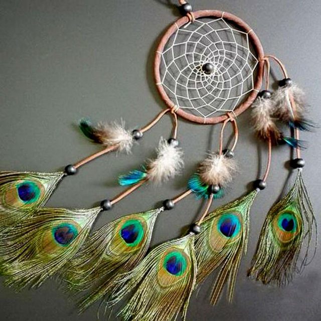 Peacock Feather Car Dreamcatcher