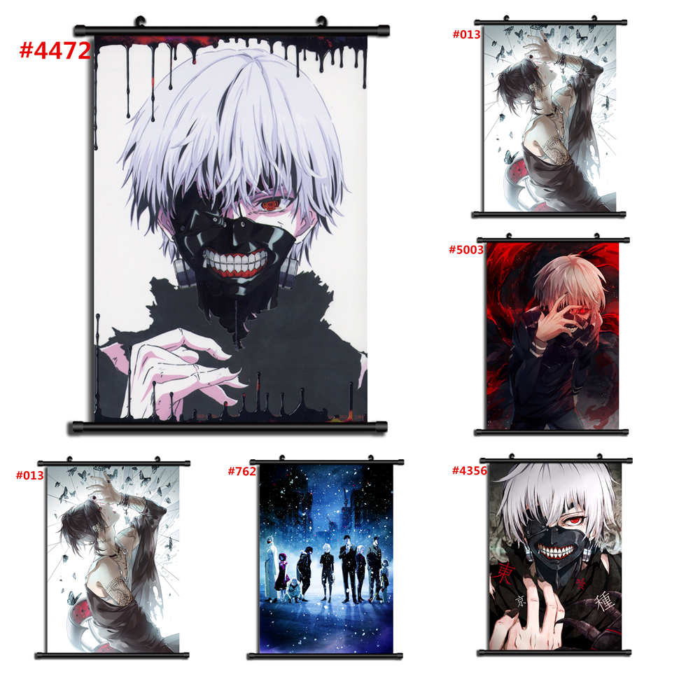 2346 Hot Anime Tokyo Ghoul Kaneki Ken Wall Poster Scroll Home Decor Cosplay A