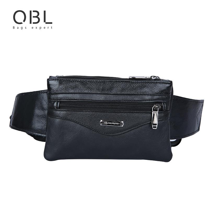 Casual Business Cow Äkta Läder Män Midja Pack Crossbody Bag Mode - Bälten väskor - Foto 1
