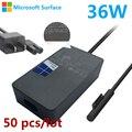 50 шт. 36 Вт 12 В 2.58A Замена AC Зарядное Устройство для Microsoft Surface Pro 3 Pro 4 Поверхность Книга Адаптер Питания ж/Мощность кабель