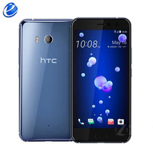 "Original HTC U11 5.5"" inch 4GB RAM 64GB 1 sim/128GB dual sim ROM Octa Core 4G LTE Android phone factory unlocked 12MP cellphone(China)"