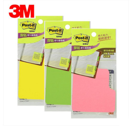 6pads/lot 45 Sheets Per Pad Post It Sticky Notes Postit Sticky Note Paper Memo Pad Sample Price 3M Postit 633S