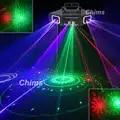 Chims DMX 4 lente RGB rojo verde azul patrón de Red de rayo láser Luz hogar PRO DJ Show escáner KTV iluminación de escenario de Club A X4