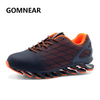 GOMNEAR Springable Running Shoes Men Breathable Light Non Slip Sneakers Jogging Walking Sports Athletic Lace Up