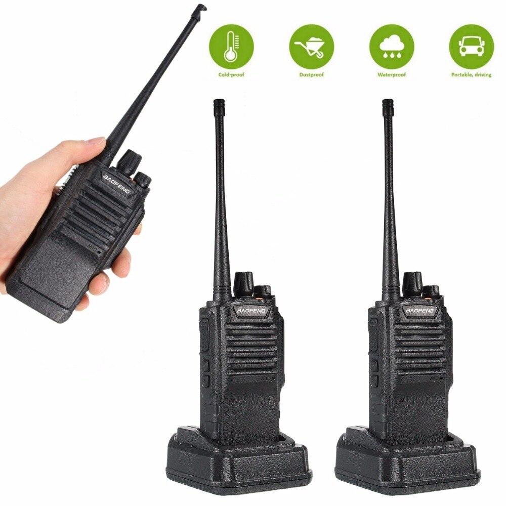 2pcs IP67 Waterproof Baofeng BF 9700 Walkie Talkie 8W 2800mAh Portable Two Way Radio UHF VHF
