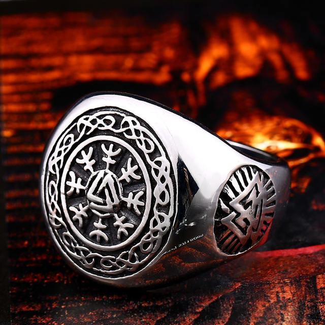 STAINLESS STEEL MJOLNIR VIKING RINGS