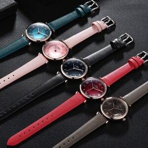 Image 5 - IBSO nowy marka kobiety zegarki 2020 zielony prawdziwy skórzany pasek Reloj Mujer luksusowe panie zegarek kwarcowy kobiety Montre Femme