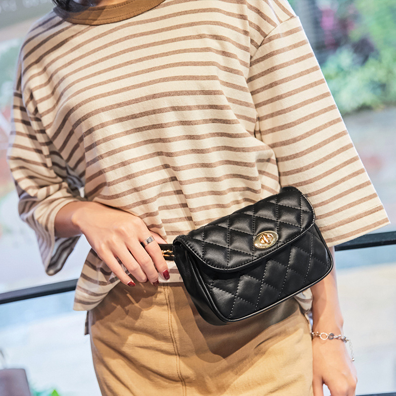 Fanny Packs Classic PU Leather Women Bag  Luxury Belt Bags Casual Shoulder Bags WLAM0224