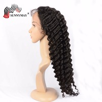 Sunnymay Deep Wave Full Lace Human Hair Wigs Brazilian Virgin Hair Lace Wigs For Black Women In Stock
