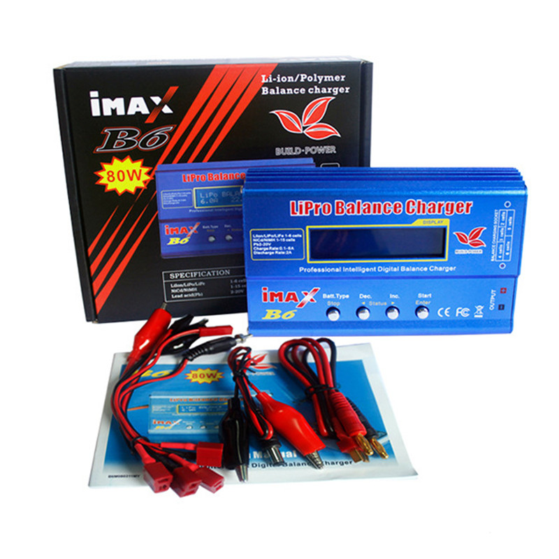 Build-Power iMAX B6 Lipo NiMh Li-ion Ni-Cd RC Battery Balance Digital Charger Discharger C1Hot New Arrival