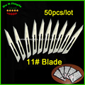 50pcs/lot Blade 11# Surgery Scalpel Opening Repair Tools Knife for Disposable Sterile/Mobile Phone/Beauty/DIY