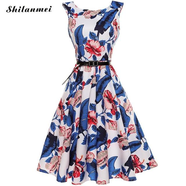 Women Robe Pin Up Dress Retro floral Vintage 90s Swing dress with ...