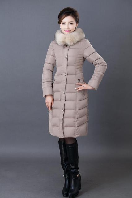 Jaqueta de inverno Mulheres Espessamento Slim Fit Parkas Com Capuz De Pele de Alta qualidade Mãe Plus Size 4XL 5XL 6XL Casaco de Algodão Para Baixo A1556