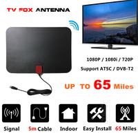 AH LINK Indoor Digital TV Antenna with Signal Amplifier Booster TV Radius Surf HD TV Fox Antena Interior Antennas Aerial DVB T2