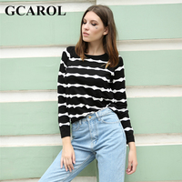 GCAROL New Arrival Wave White Striped Women Sweater