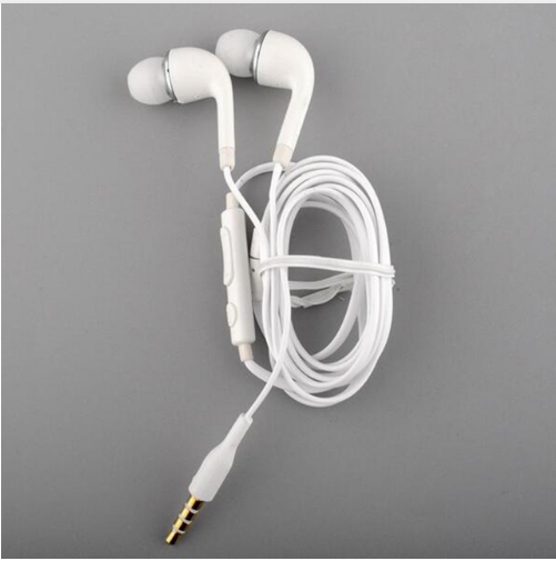 Best Quality 3.5mm Headset Earphone +Microphone For Samsung Galaxy S8 Plus S7 S6 Edge Note 8 7 5 In-ear Bass Earbuds