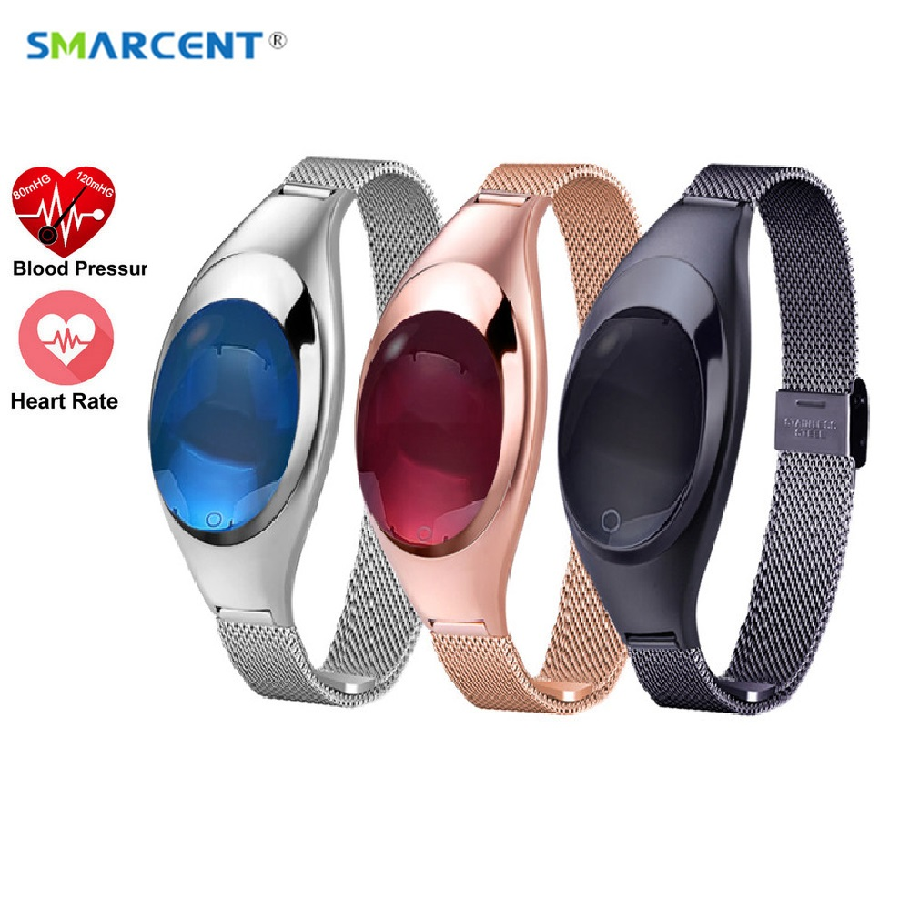 2018 W12 Women Lady Bracket Smart Watch Blood Pressure Heart Rate Monitor Pedometer Fitness Tracker For